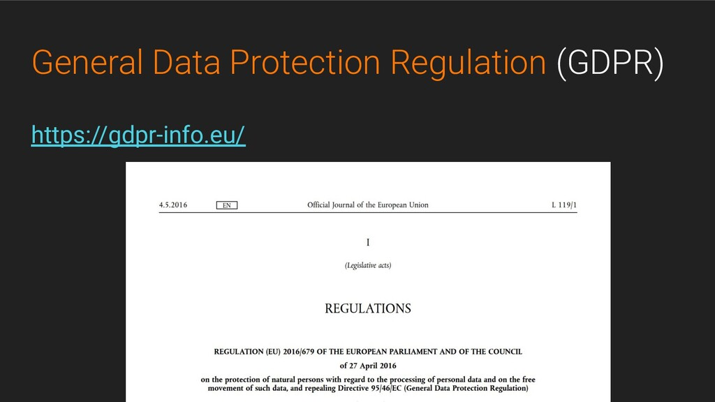 @GeorgLink General Data Protection Regulation (...