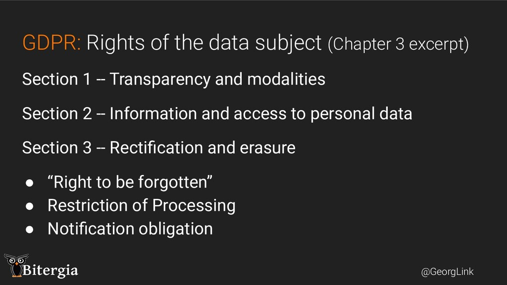 @GeorgLink GDPR: Rights of the data subject (Ch...