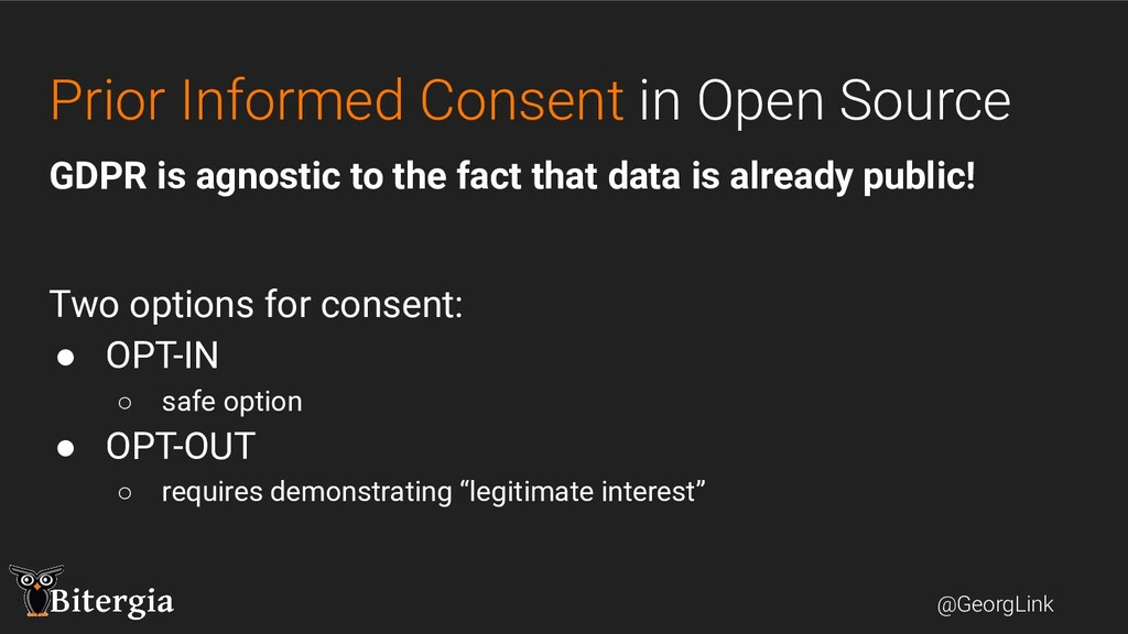 @GeorgLink Prior Informed Consent in Open Sourc...