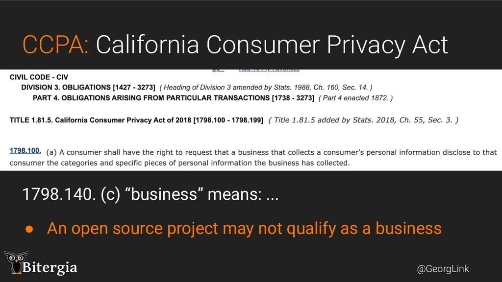 @GeorgLink CCPA: California Consumer Privacy Ac...