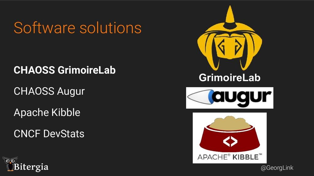 @GeorgLink Software solutions CHAOSS GrimoireLa...