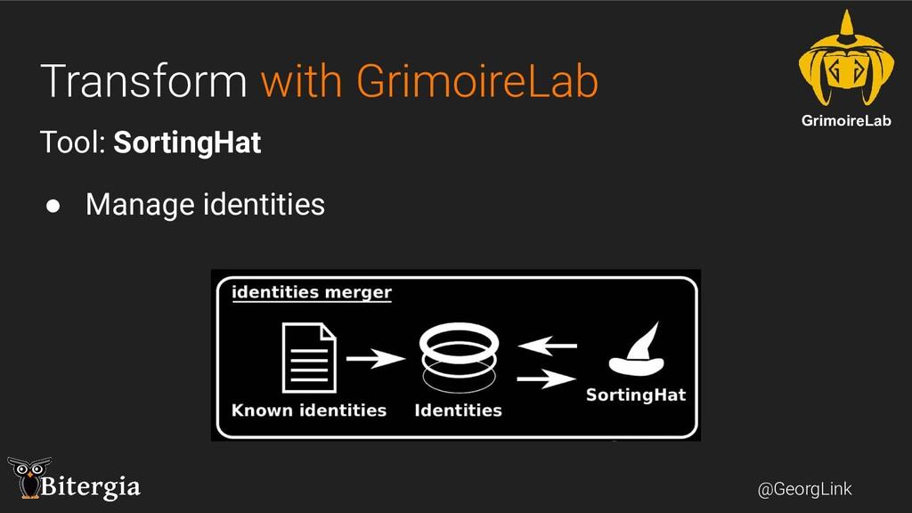 @GeorgLink Transform with GrimoireLab Tool: Sor...