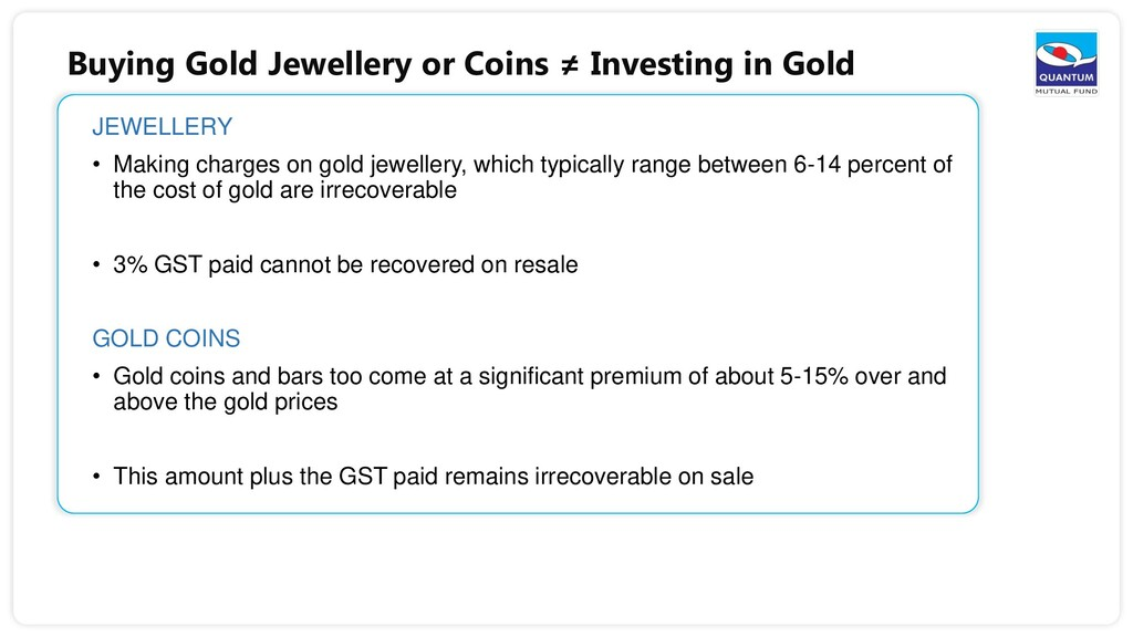 Buying Gold Jewellery or Coins ≠ Investing in G...