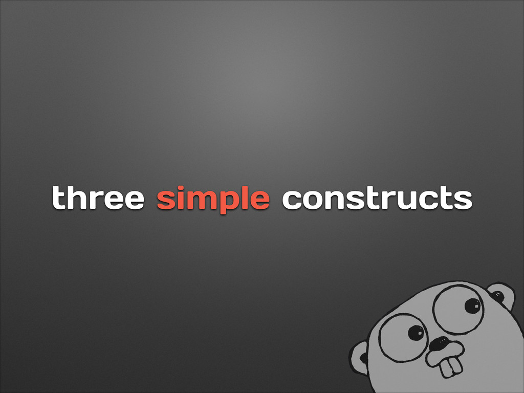 three simple constructs