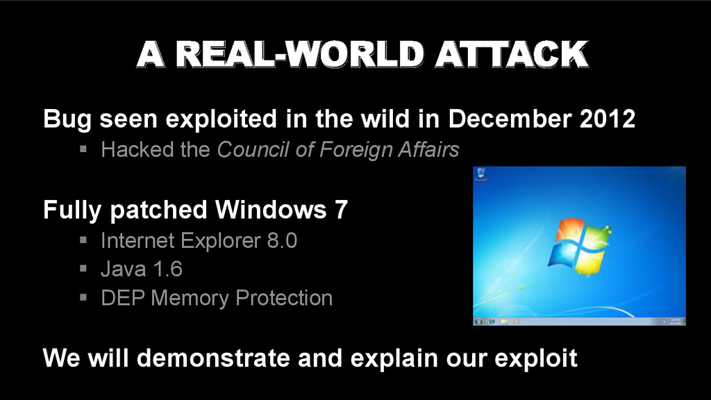 Understanding a real-world attack Bug seen expl...