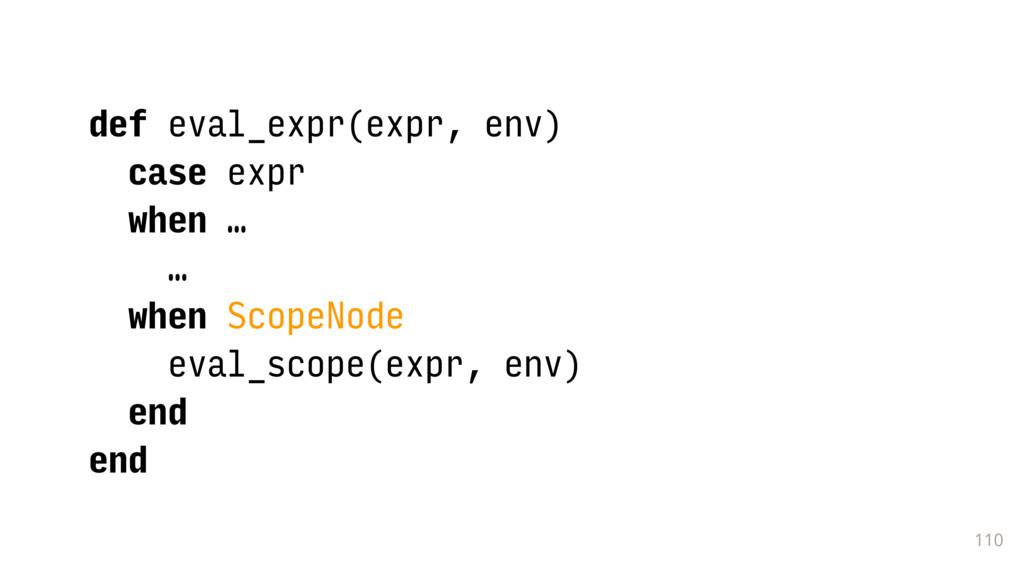 110 def eval_expr(expr, env) case expr when … …...