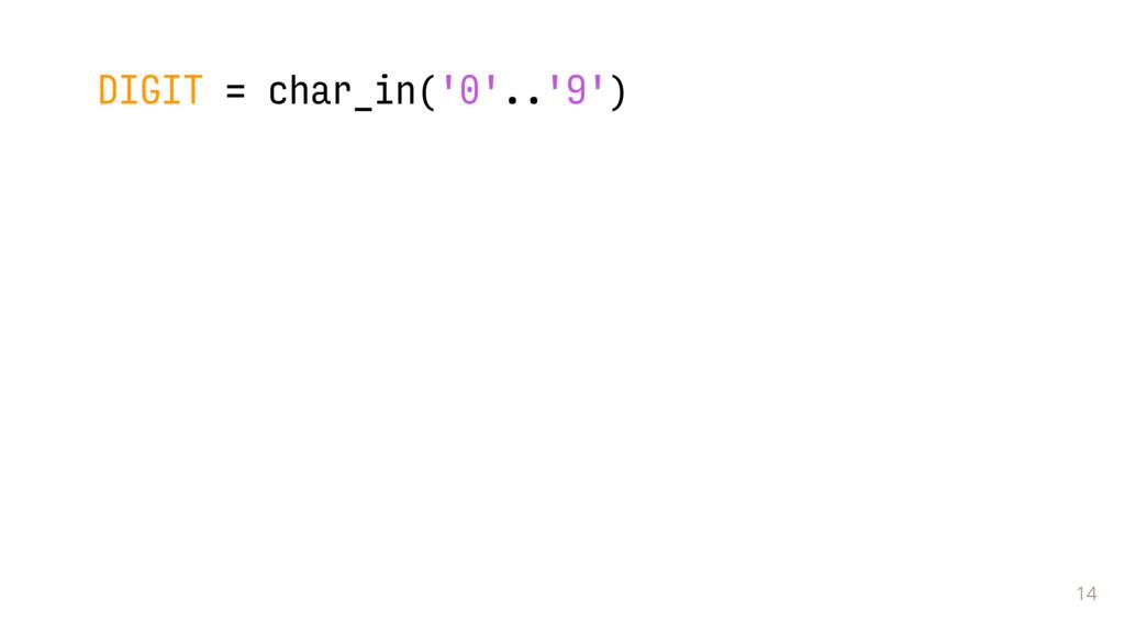 14 DIGIT = char_in('0'..'9')