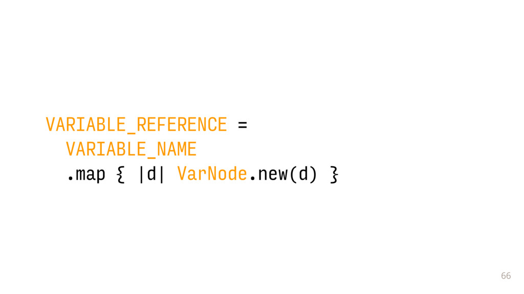 66 VARIABLE_REFERENCE = VARIABLE_NAME .map { |d...