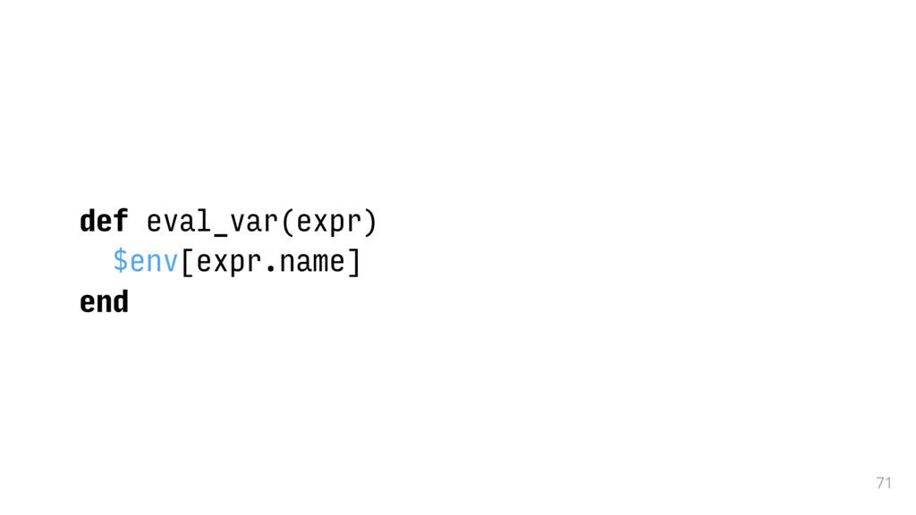 71 def eval_var(expr) $env[expr.name] end