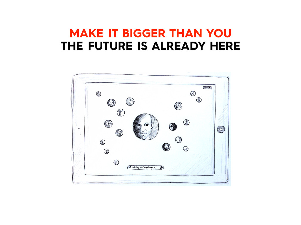 MAKE IT BIGGER THAN YOU THE FUTURE IS ALREADY H...