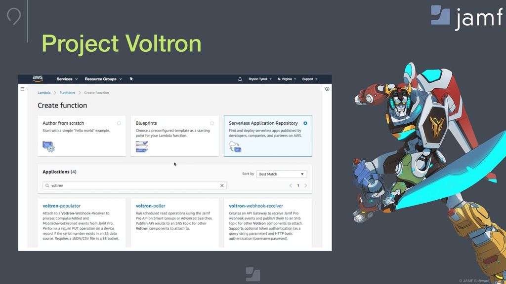 © JAMF Software, LLC Project Voltron