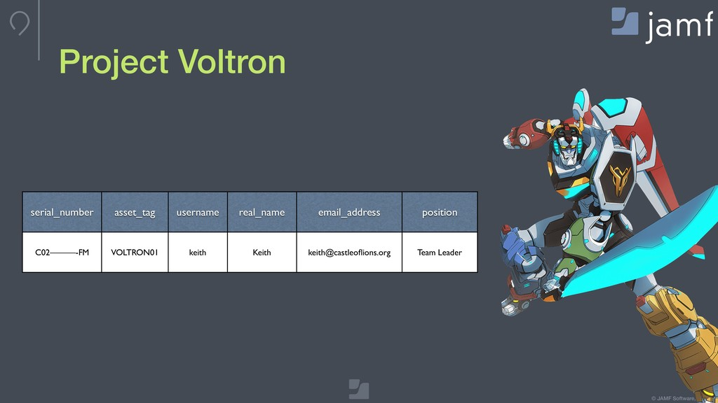 © JAMF Software, LLC Project Voltron computers ...