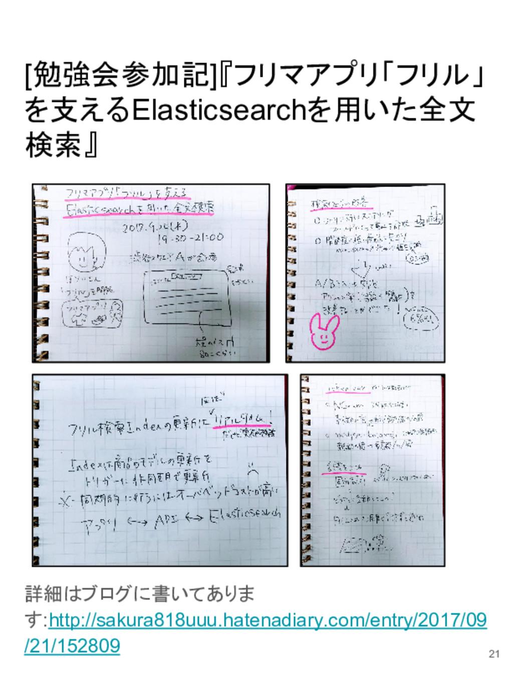 [勉強会参加記]『フリマアプリ「フリル」 を支えるElasticsearchを用いた全文 検索...