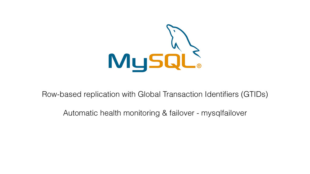 Row-based replication with Global Transaction I...