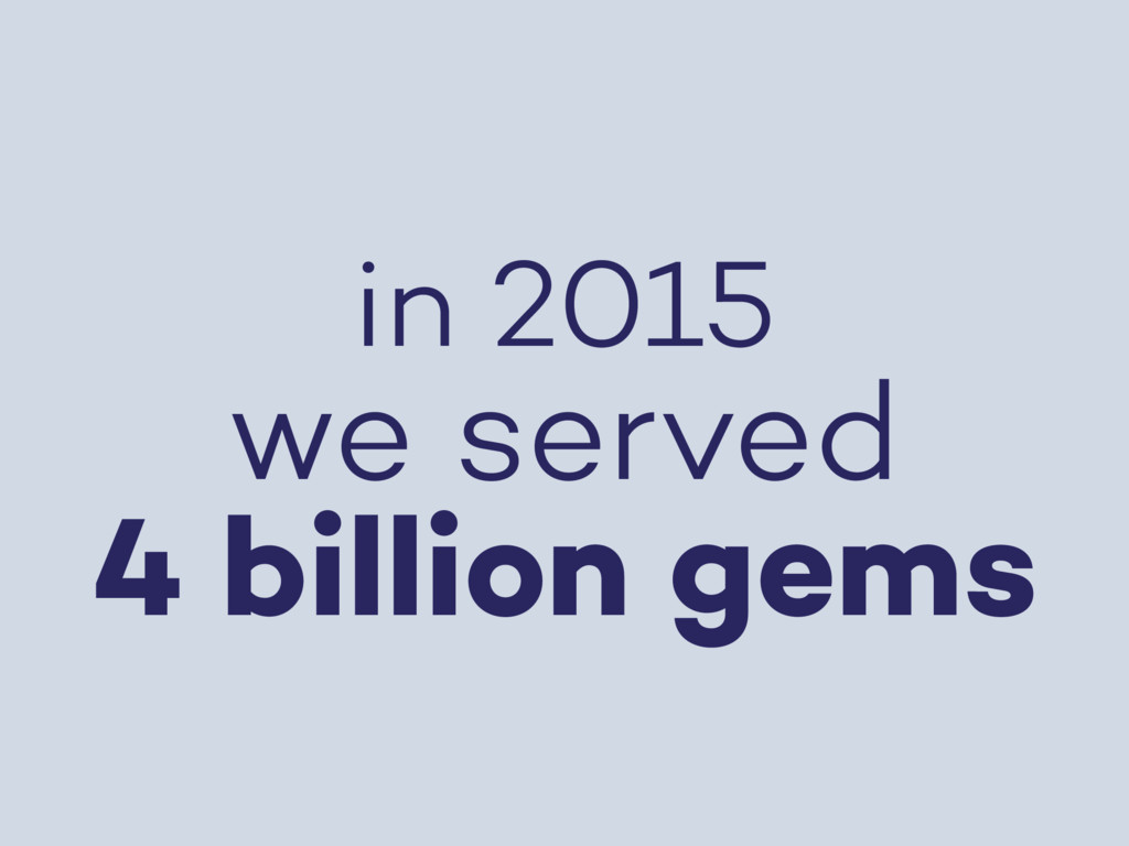 in 2015 we served 4 billion gems