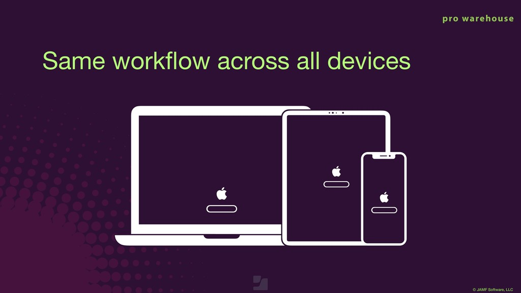 © JAMF Software, LLC Same workflow across all de...