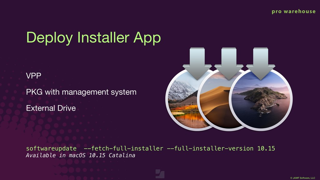 © JAMF Software, LLC Deploy Installer App VPP  ...