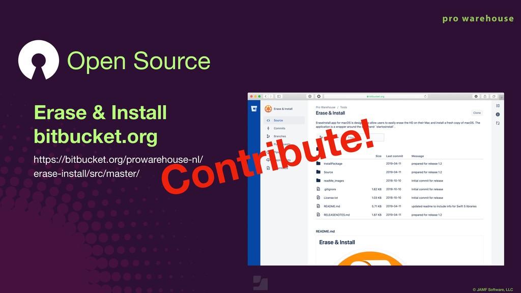 © JAMF Software, LLC Erase & Install bitbucket...