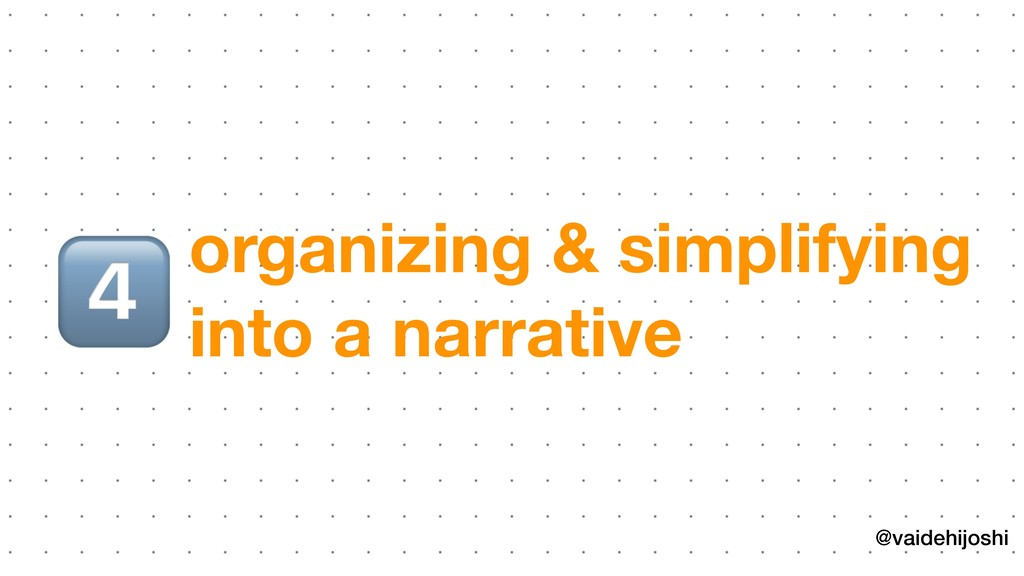 @vaidehijoshi organizing & simplifying into a na...