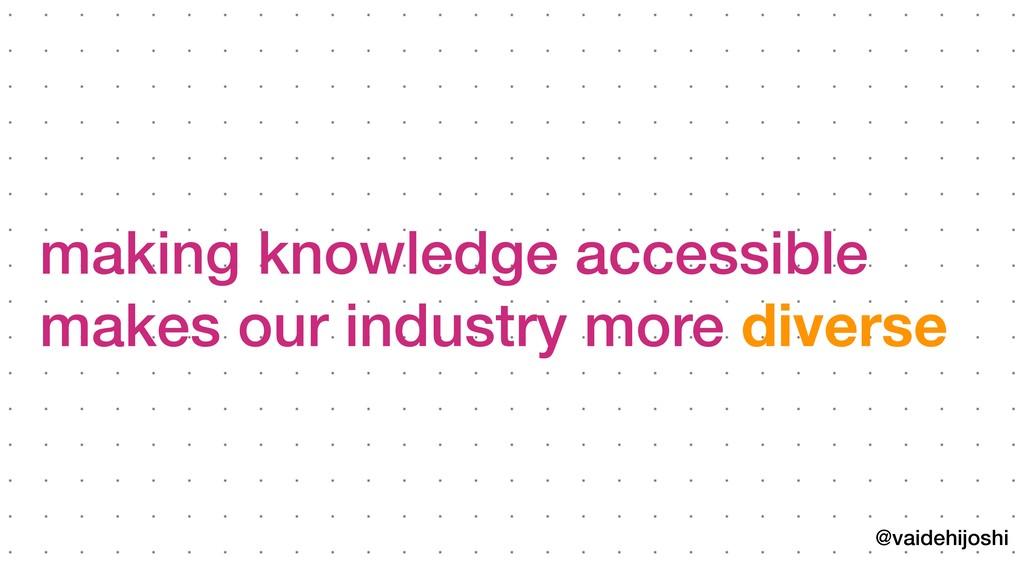 @vaidehijoshi making knowledge accessible makes ...