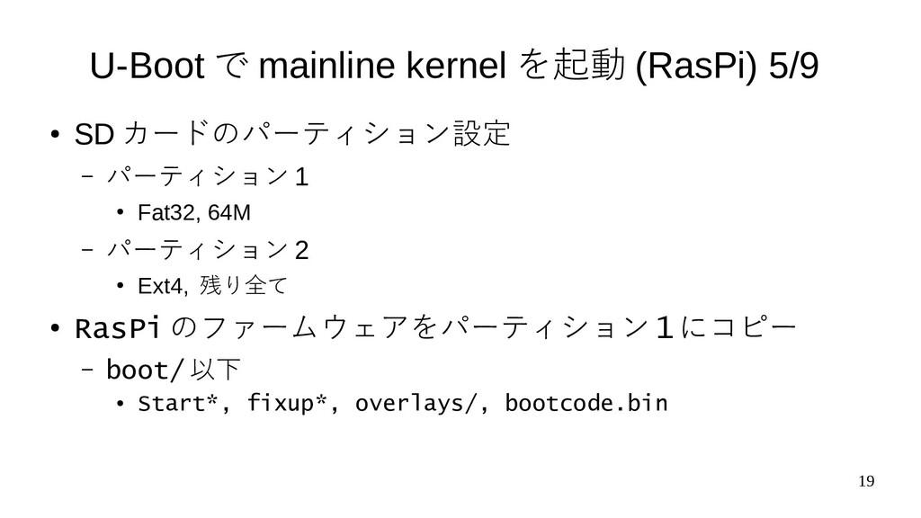 19 U-Boot で mainline kernel を起動 (RasPi) 5/9 ● S...
