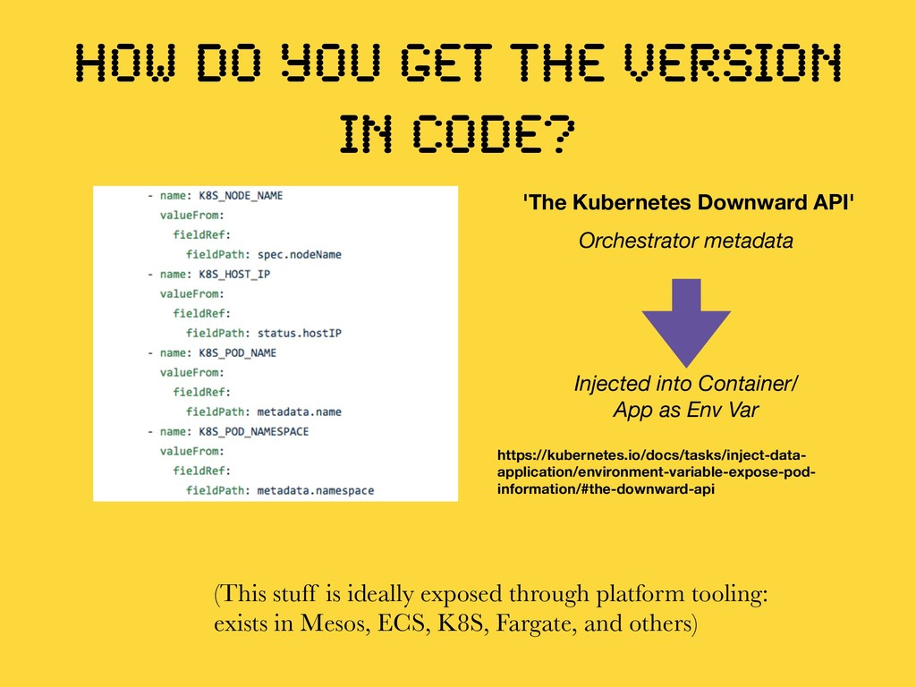HOW DO YOU GET THE VERSION IN CODE? (This stuff...