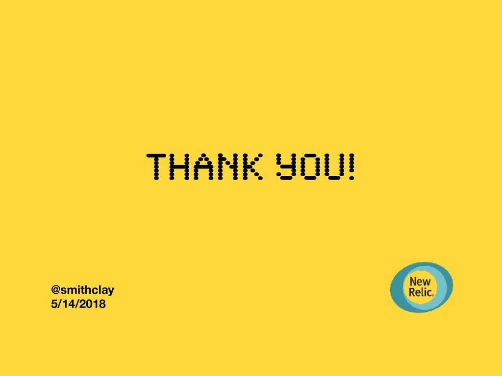 Thank you! @smithclay 5/14/2018