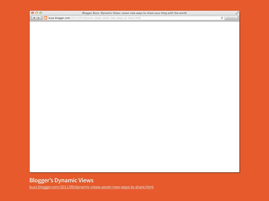 Blogger's Dynamic Views buzz.blogger.com/2011/0...