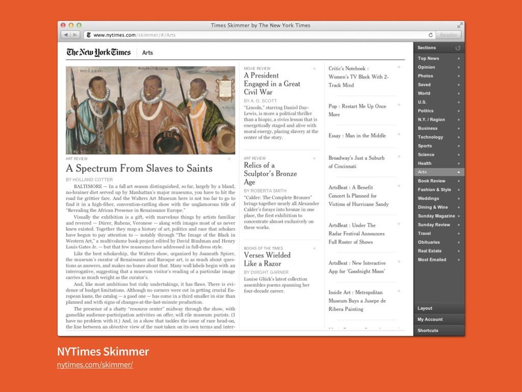 NYTimes Skimmer nytimes.com/skimmer/