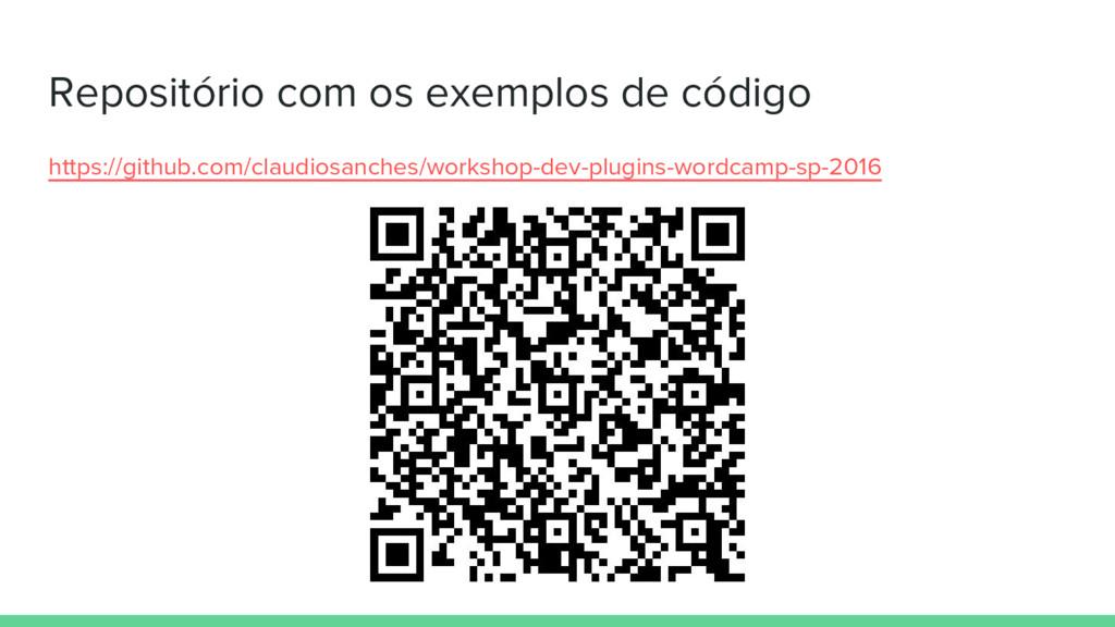 Repositório com os exemplos de código https://g...