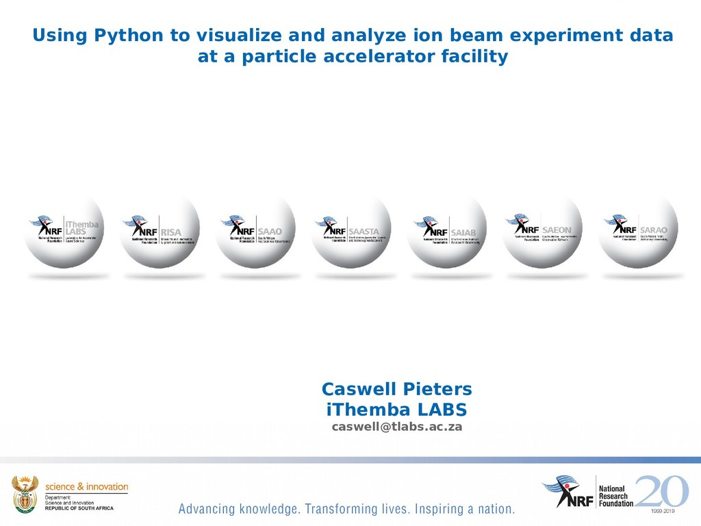 Using Python to visualize and analyze ion beam ...