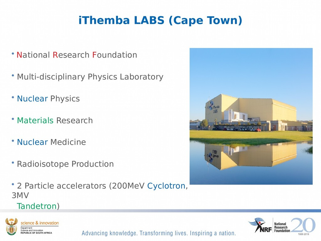 iThemba LABS (Cape Town) • National Research Fo...