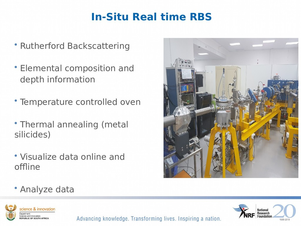 In-Situ Real time RBS • Rutherford Backscatteri...