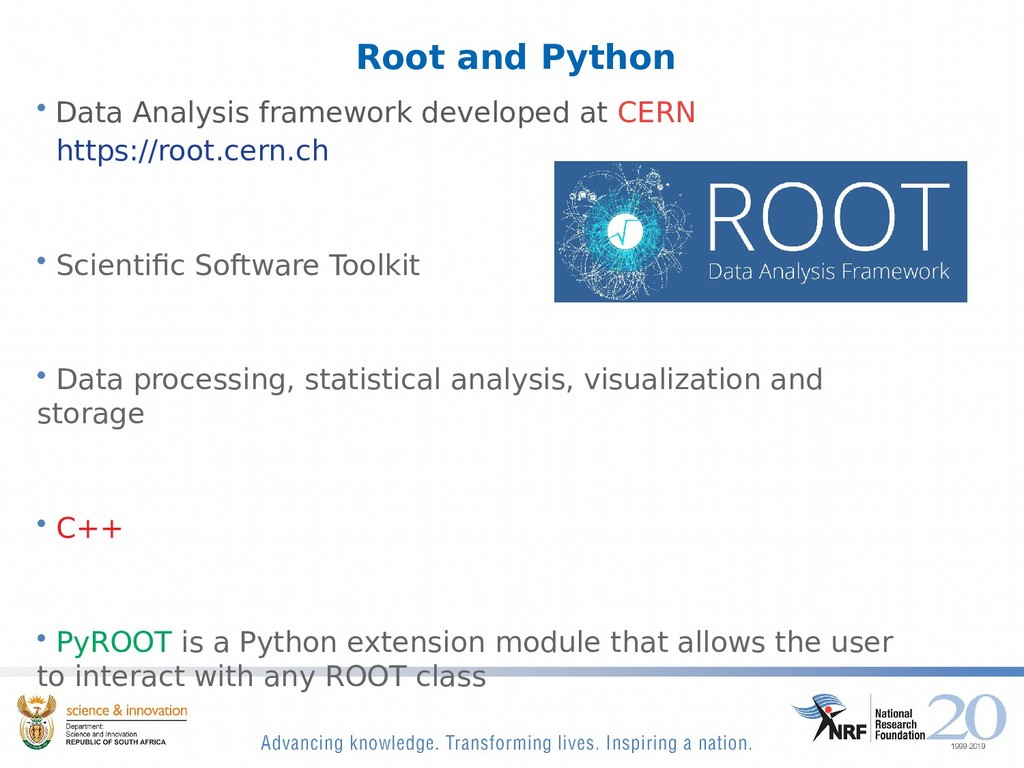 Root and Python • Data Analysis framework devel...