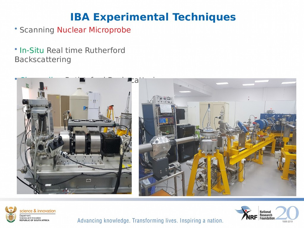 IBA Experimental Techniques • Scanning Nuclear ...