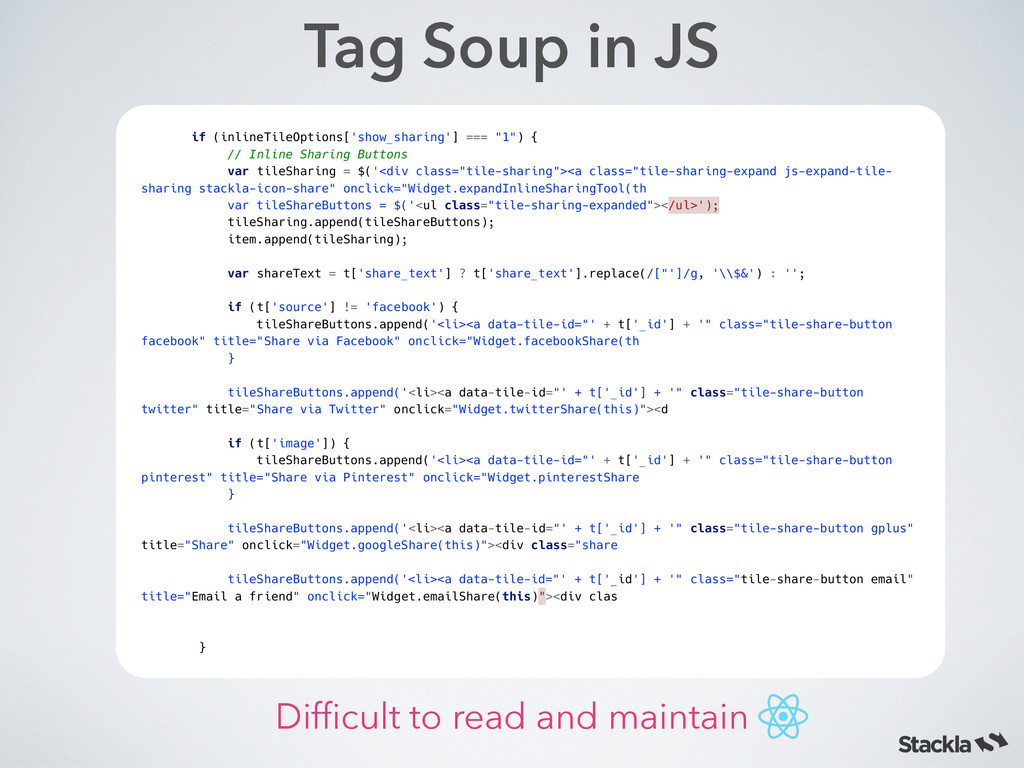 Tag Soup in JS if (inlineTileOptions['show_shar...