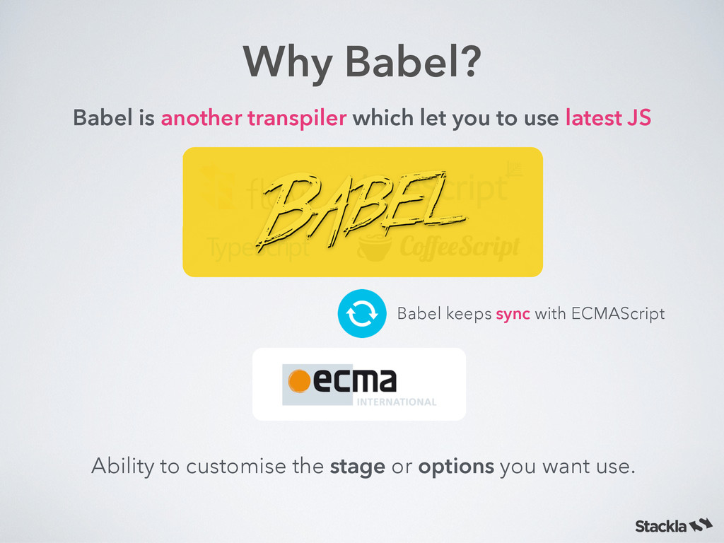 Why Babel? Babel is another transpiler which le...
