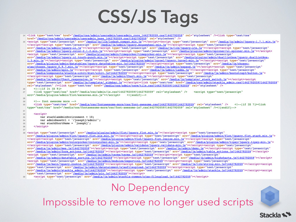 CSS/JS Tags Impossible to remove no longer used...