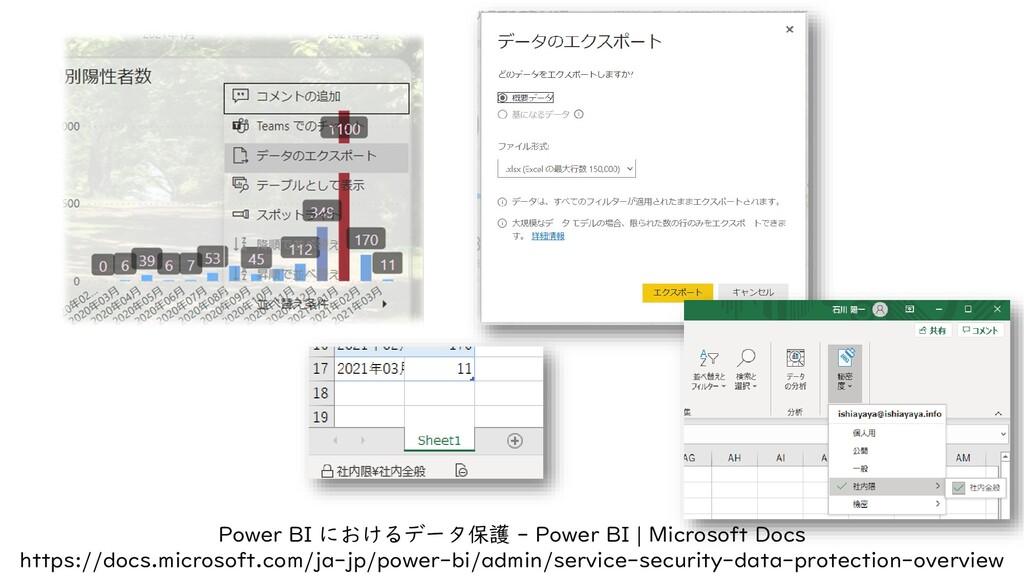 Power BI におけるデータ保護 - Power BI | Microsoft Docs ...