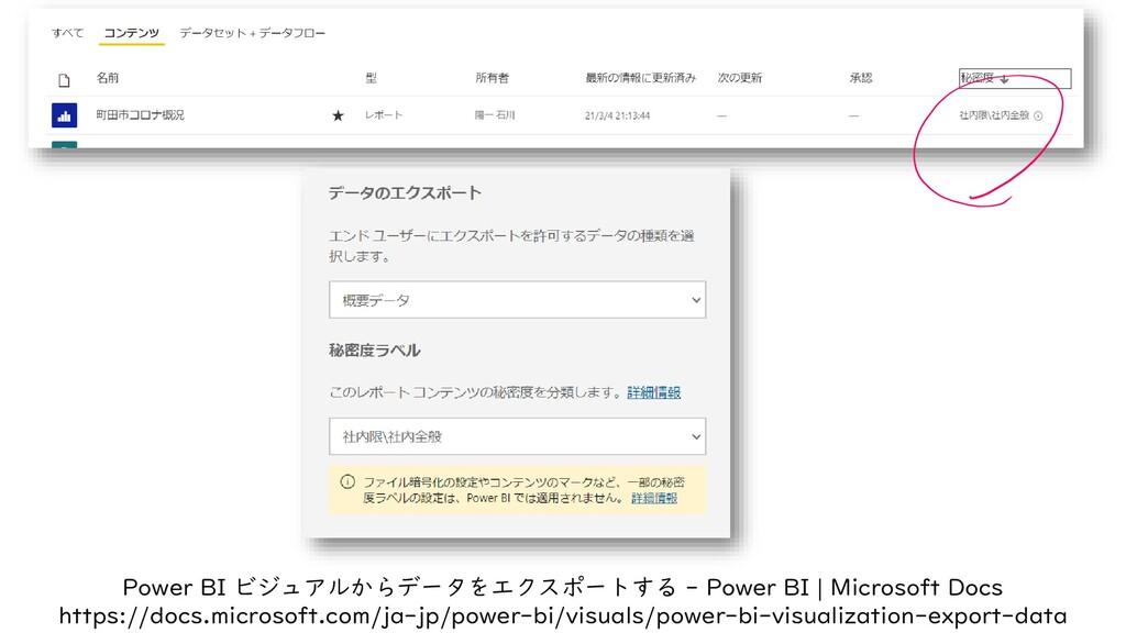 Power BI ビジュアルからデータをエクスポートする - Power BI | Micro...