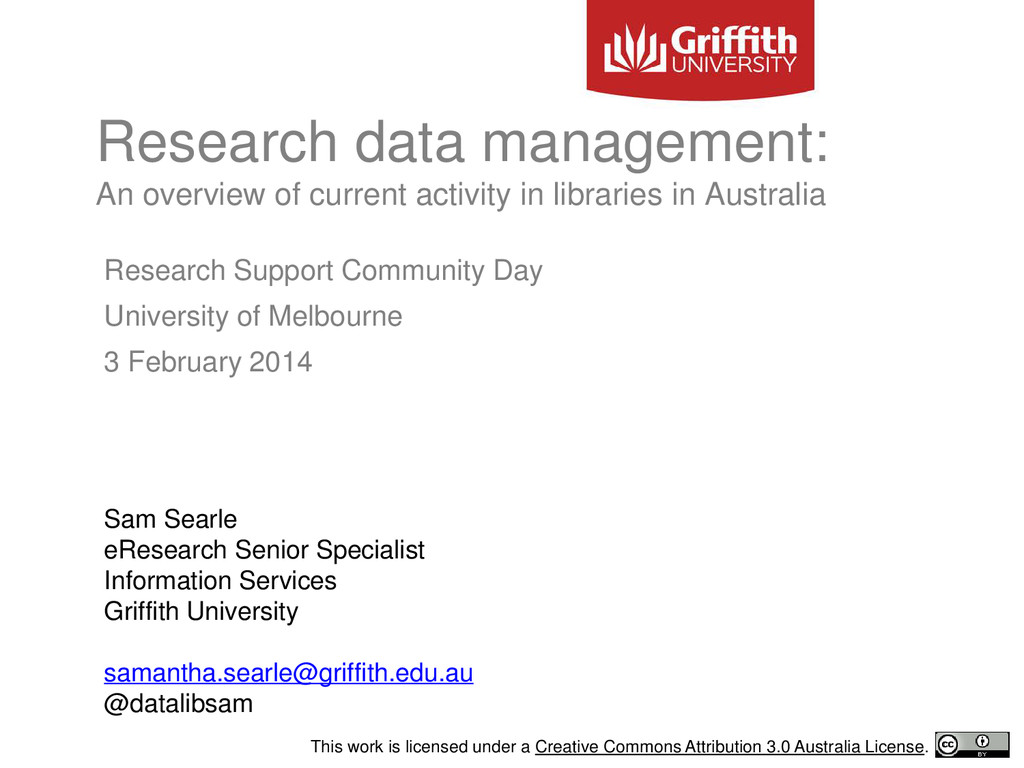 Research Support Community Day University of Me...