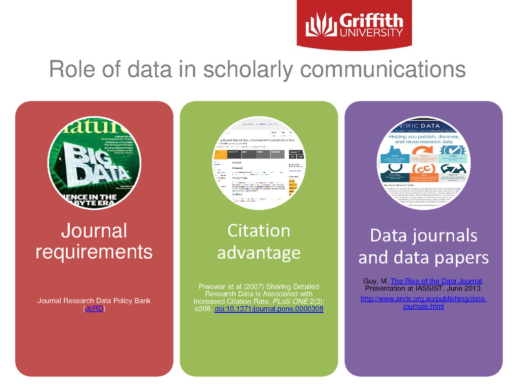 Role of data in scholarly communications Journa...