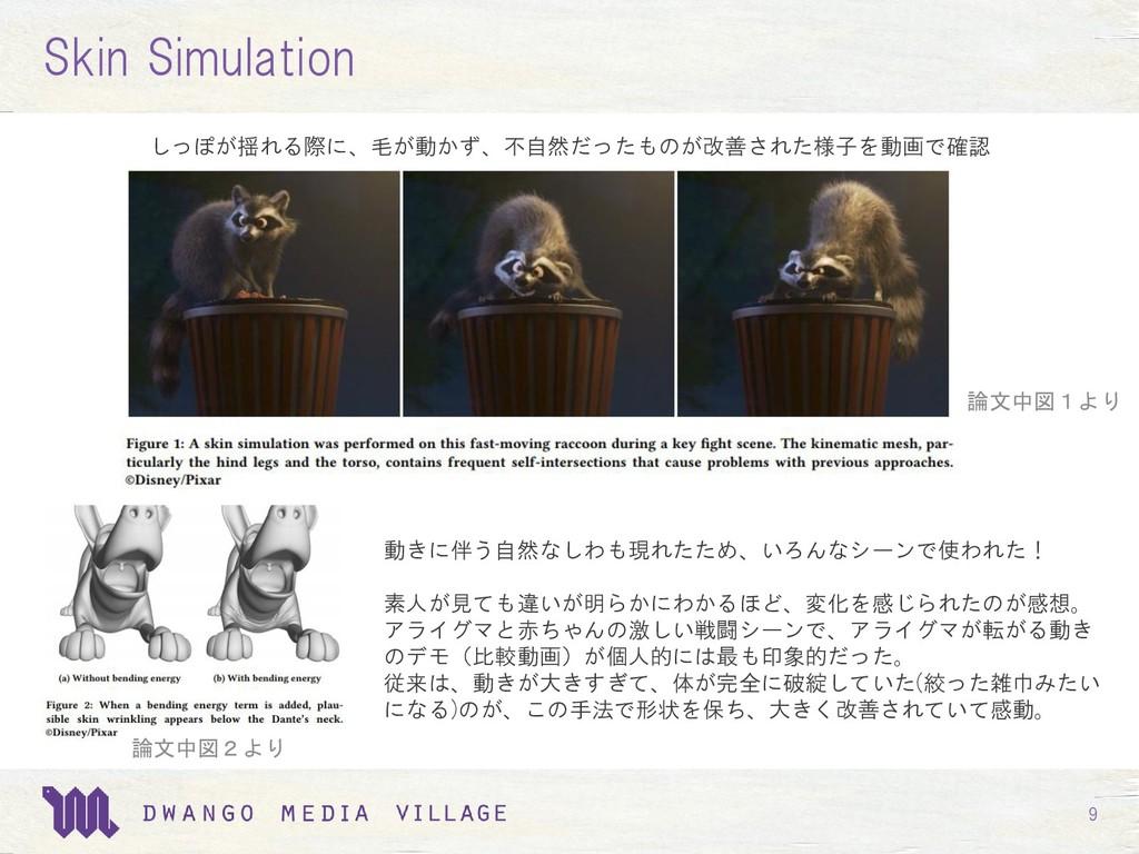 9 Skin Simulation しっぽが揺れる際に、毛が動かず、不自然だったものが改善され...