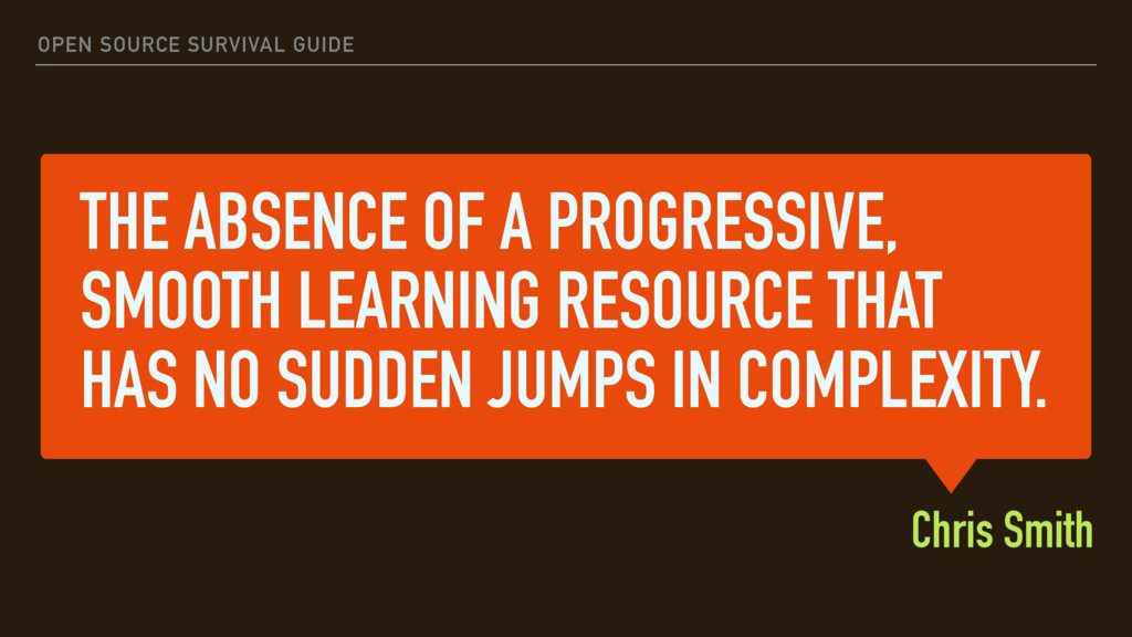 THE ABSENCE OF A PROGRESSIVE, SMOOTH LEARNING R...