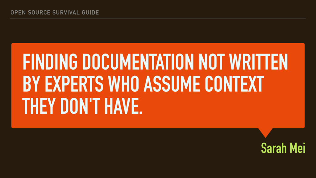 FINDING DOCUMENTATION NOT WRITTEN BY EXPERTS WH...