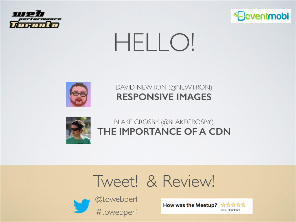 @towebperf Tweet! #towebperf ! ! DAVID NEWTON (...