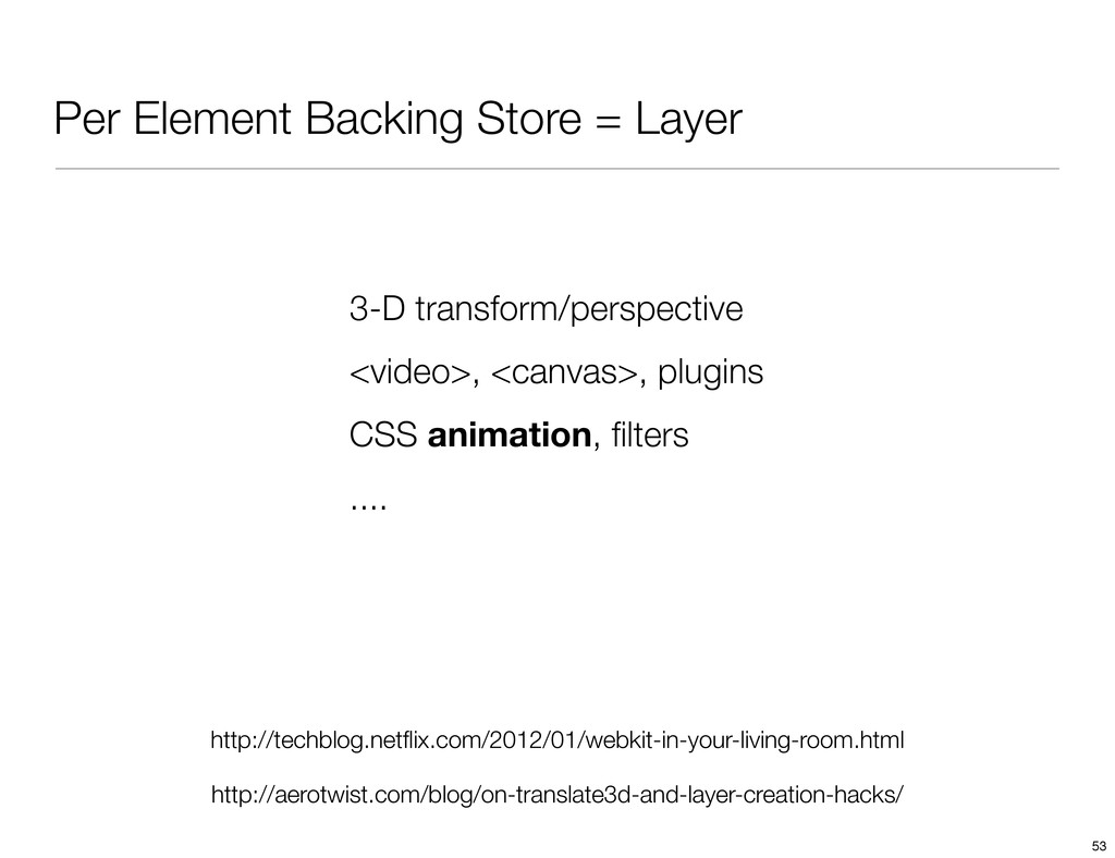 Per Element Backing Store = Layer http://techbl...