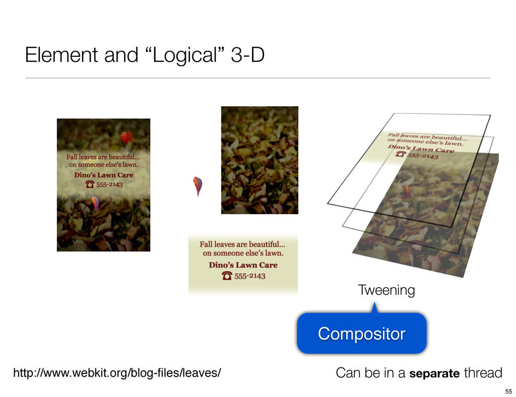 "Element and ""Logical"" 3-D http://www.webkit.org..."