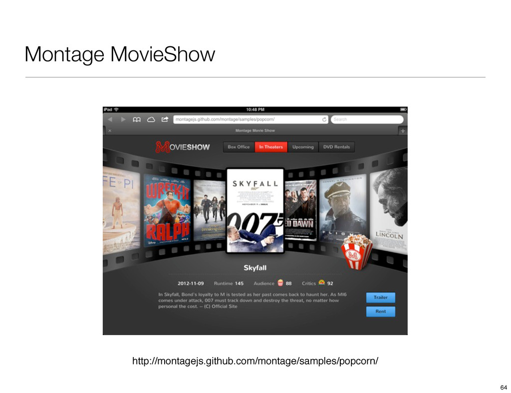 Montage MovieShow http://montagejs.github.com/m...