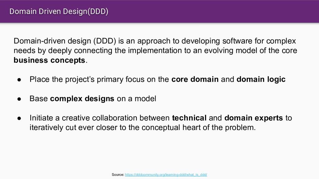 Domain Driven Design(DDD) Domain-driven design ...